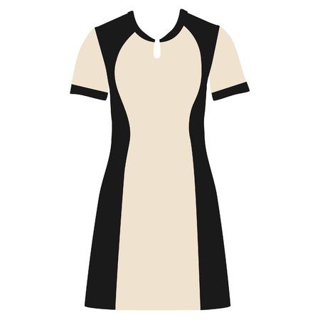 sexy black dress: Fashion woman dress raster isolated, woman clothing