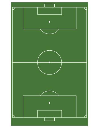 soccer field stadium: Football soccer field stadium raster isolated, european, green field