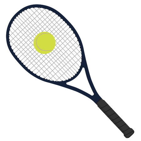 raster artistic: Tennis racket, tennis ball, tennis raquet, sport equipment