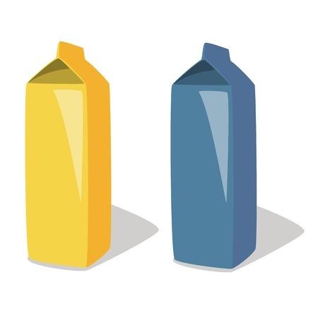 carton de leche: Ilustraci�n de la leche, envases, envases de leche, cart�n de leche