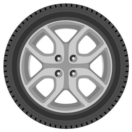 car tire: Car wheel raster isolated, car tire, transport wheel