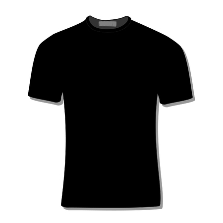 black shirt: Illustration of  t-shirt,  clothes,  man shirt,  polo shirt, black shirt,  shirt template Stock Photo