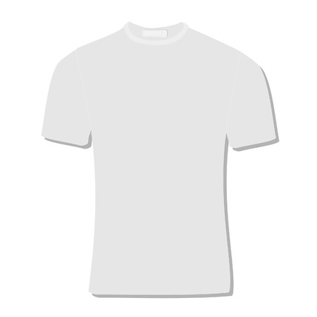 white shirt: Illustration of  t-shirt,  clothes,  man shirt,  polo shirt, white shirt,  shirt template