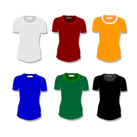white shirt: Illustration of  t-shirt,  clothes,  woman shirt,  polo shirt, white shirt,  shirt template