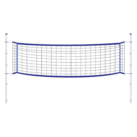 Vector illustration beach volleyball net. Blue indoor volleyball net.