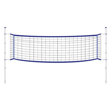 delimitation: Vector illustration beach volleyball net. Blue indoor volleyball net.