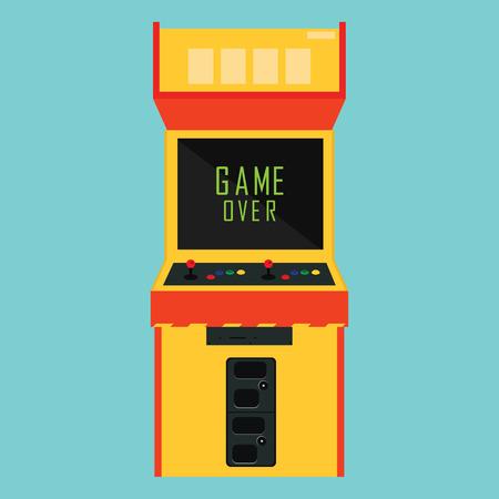 ilustracji wektorowych retro arcade gry pixel nad wiadomością. Ilustracje wektorowe