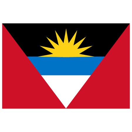 antigua: Vector illustration Antigua and Barbuda flag vector icon. Rectangular national flag of  Antigua and Barbuda.  Antigua and Barbuda flag button Illustration