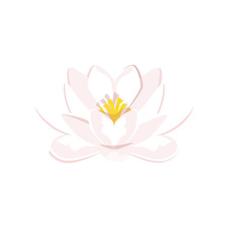 Vektor-Illustration Schöne Blaue Seerose Oder Lotus-Blume Auf Blauem ...