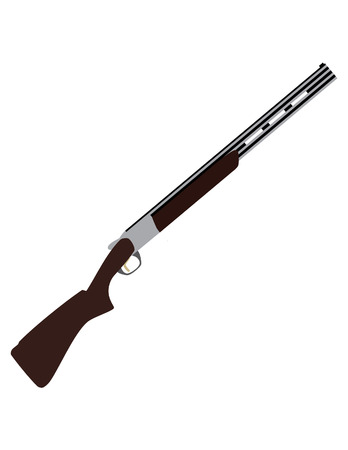 Skeet rifle raster isolated, skeet shot, old rifle, weapon, sport weapon Stock fotó - 52383039