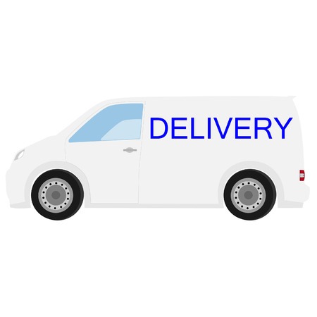 delivery car: Delivery car with text delivery raster icon, delivery truck, delivery service