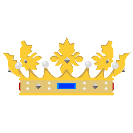 aristocracy: Golden queen crown raster isolated, medieval crown, king crown, princess crown