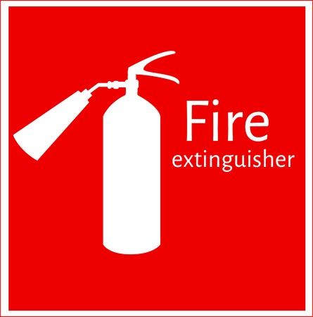 fire icon: Fire safety,  fire alarm, fire extinguisher,  fire extinguisher icon