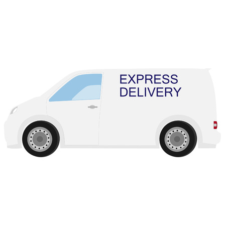 delivery car: Delivery car raster icon, delivery truck, delivery service