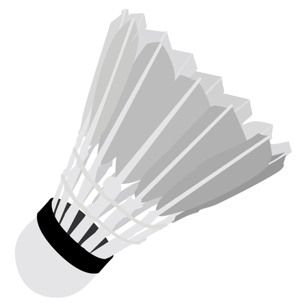 shuttlecock: Shuttlecock, shuttlecock isolated on white, sport equipment, badminton Stock Photo