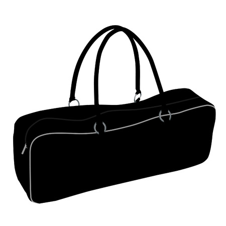 Sport bag, duffel bag, sports bag isolated, sport equipment Banco de Imagens