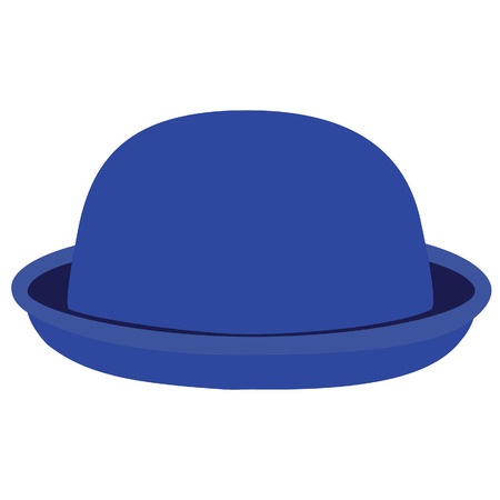 bowler hat: Blue woman bowler hat. Derby hat. Fashion, glamour winter hat