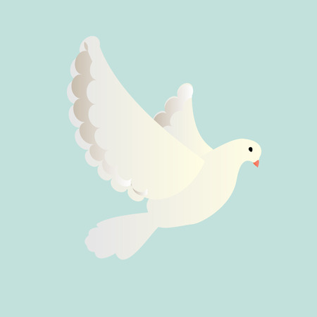send: Pigeon flying isolated Stock Photo