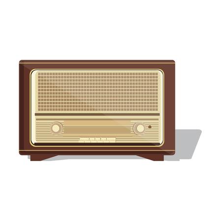 old radio: Old radio illustration of an old radio receiver of the last century.