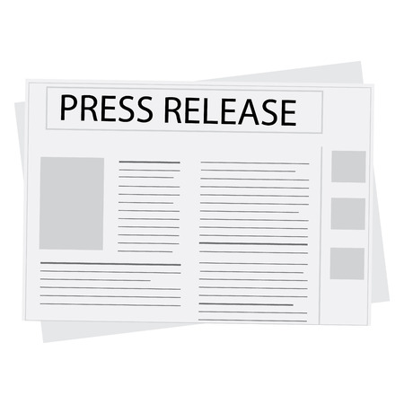 historic world event: Vector illustration newspaper icon with header press release Illustration