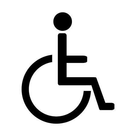 disabled parking sign: Disabled handicap vector icon. Wheelchair. Disabled parking only. Disabled sign Illustration