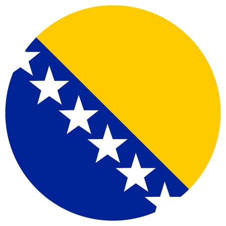 bosnia and herzegovina flag: Vector illustration Bosnia and Herzegovina flag vector icon.