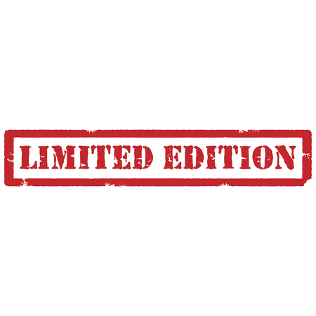 limited edition: Vector illustration red grunge rubber stamp with text limited edition