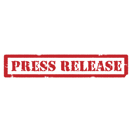 squeeze shape: Vector illustration red grunge rubber stamp with text press release