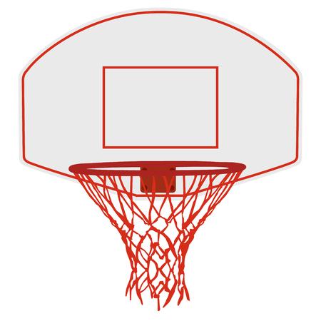 ilustracji wektorowych kosz do koszykówki, obręcz do koszykówki, boisko do koszykówki netto. ikona koszykówki