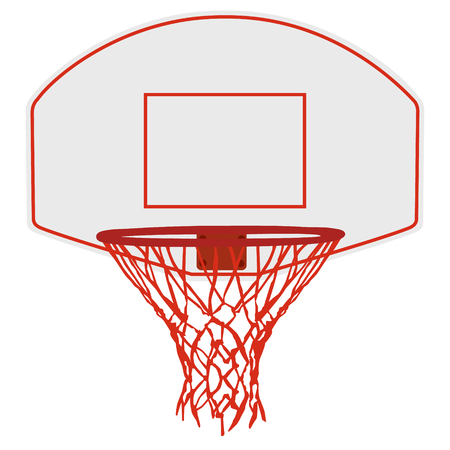 basketball shot: Vector illustration basketball basket, basketball hoop, basketball net. Basketball icon