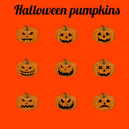 Illustration of halloween pumpkins,  halloween, pumpkin, halloween background, halloween party,