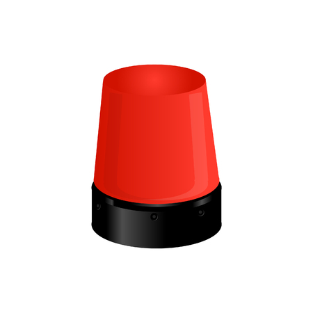 red siren: Red police light, emergency ligth,police siren, warning Stock Photo