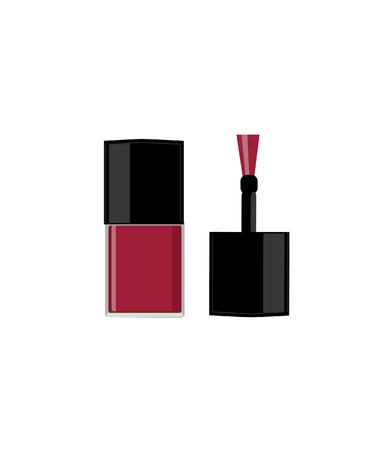 nail polish bottle: Nail polish bottle, nail polish raster, nail polish isolated Stock Photo