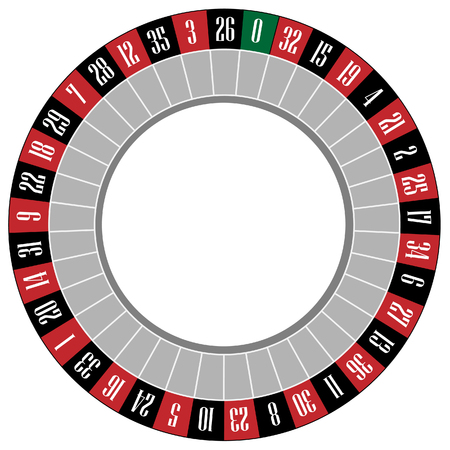 gamble: Casino roulette wheel raster icon isolated, gamble