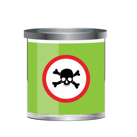 poison symbol: Poison, dangerous, bottle raster, skull symbol, poison raster Stock Photo