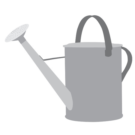 watering can: Watering can, reservoir, grey watering can, inventory Stock Photo