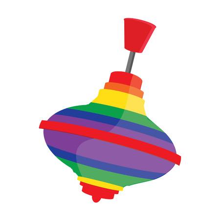 Multicolore a strisce giocattolo whirligig raster isolato, trottola