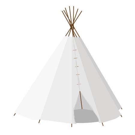 teepee: Wigwam raster isolated on white, teepee, native american