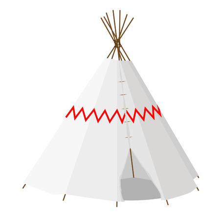 wigwam: Wigwam raster isolated on white, teepee, native american