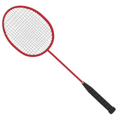 sport equipment: Badminton racket, badminton racket isolated, badminton, sport equipment