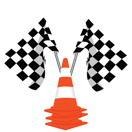 traffic   cones: Racing flags, traffic cones, start flag, finish flag
