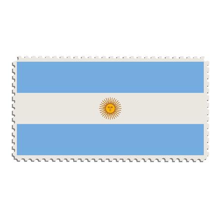 argentinian flag: Vector illustration flag of Argentina on postage stamp.  Argentinian flag on post stamp