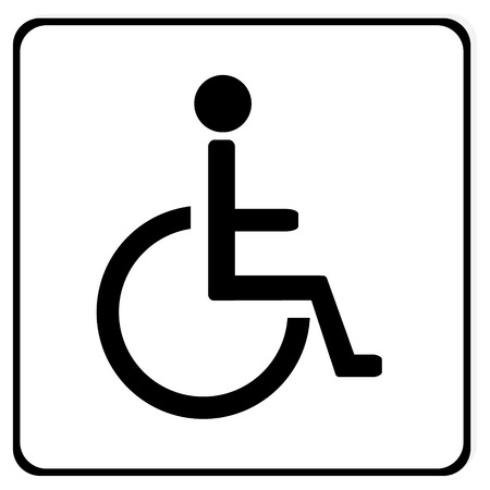 handicap sign: Disabled handicap vector icon. Wheelchair. Disabled parking only. Disabled sign Illustration