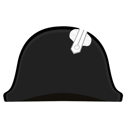 napoleon bonaparte: Vector illustration black Napoleon Bonaparte hat. General bicorne hat