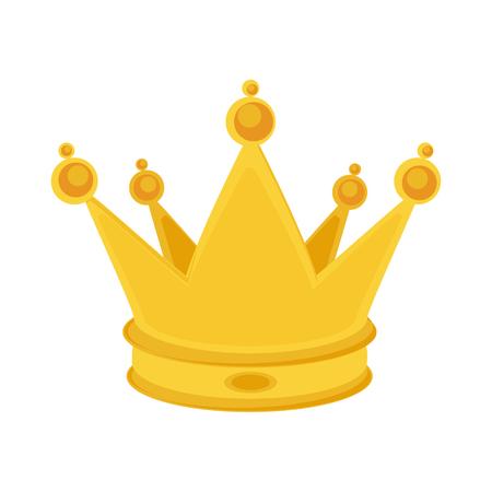 벡터 일러스트 레이 션 화이트 절연 황금 왕관입니다. 황금 왕관 아이콘