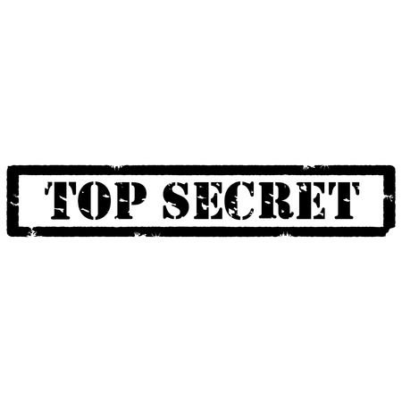top secret: Black rubber stamp with text top secret vector isolated on white