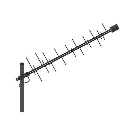 television aerial: Antenna icon. Television antenna. TV antenna. Aerial icon. Antenna icon set. Antenna vector isolated on a white background.