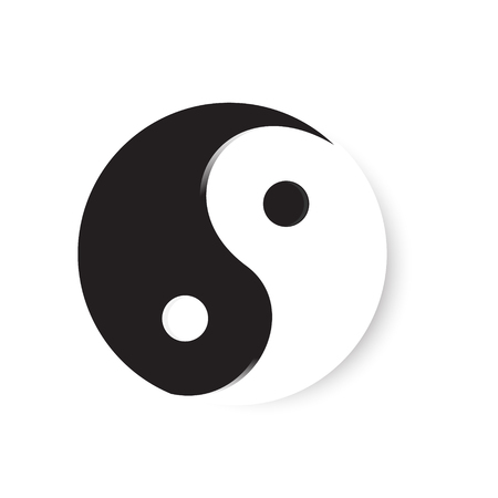 Yin Yang Religious Symbol Of Taoism Vector Illustration Royalty