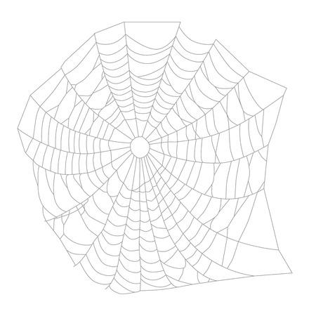 spider  net: Raster illustration white spider web, net. Halloween symbol