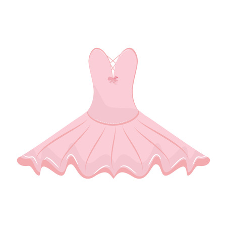raster illustration: Raster illustration pink ballet dress. Ballet tutu for ballerina. Stock Photo